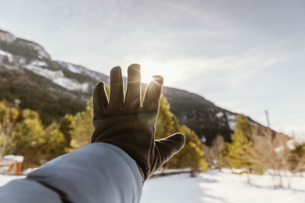 What are winter gloves made of?