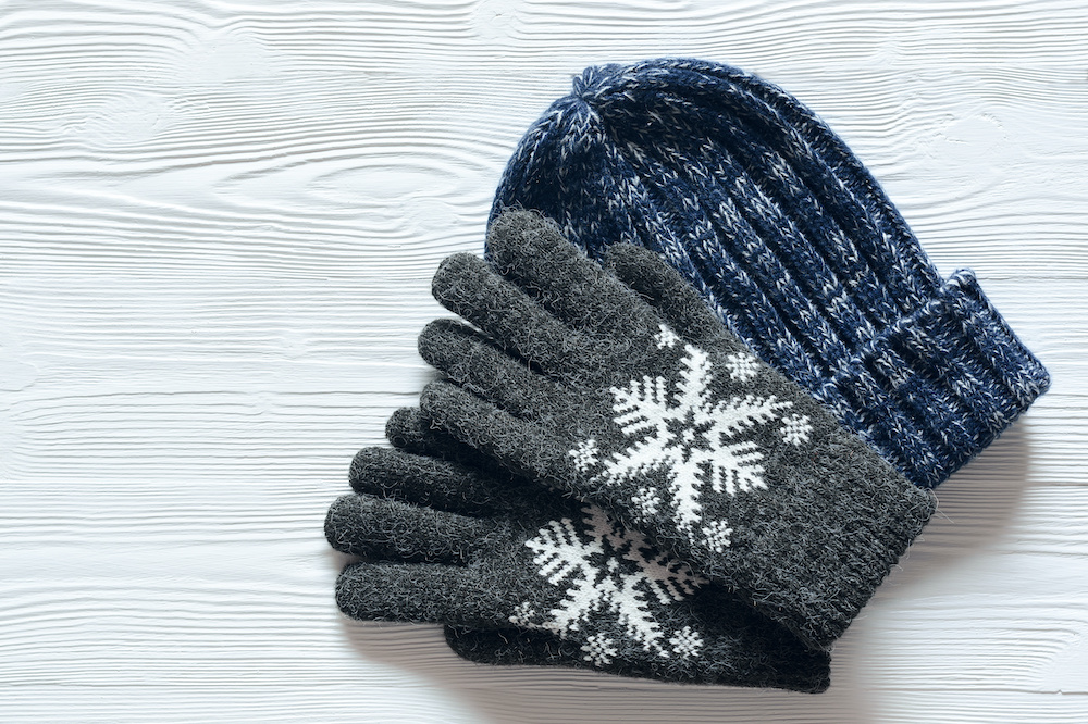 how to organize winter hats and gloves